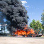 Road explosion