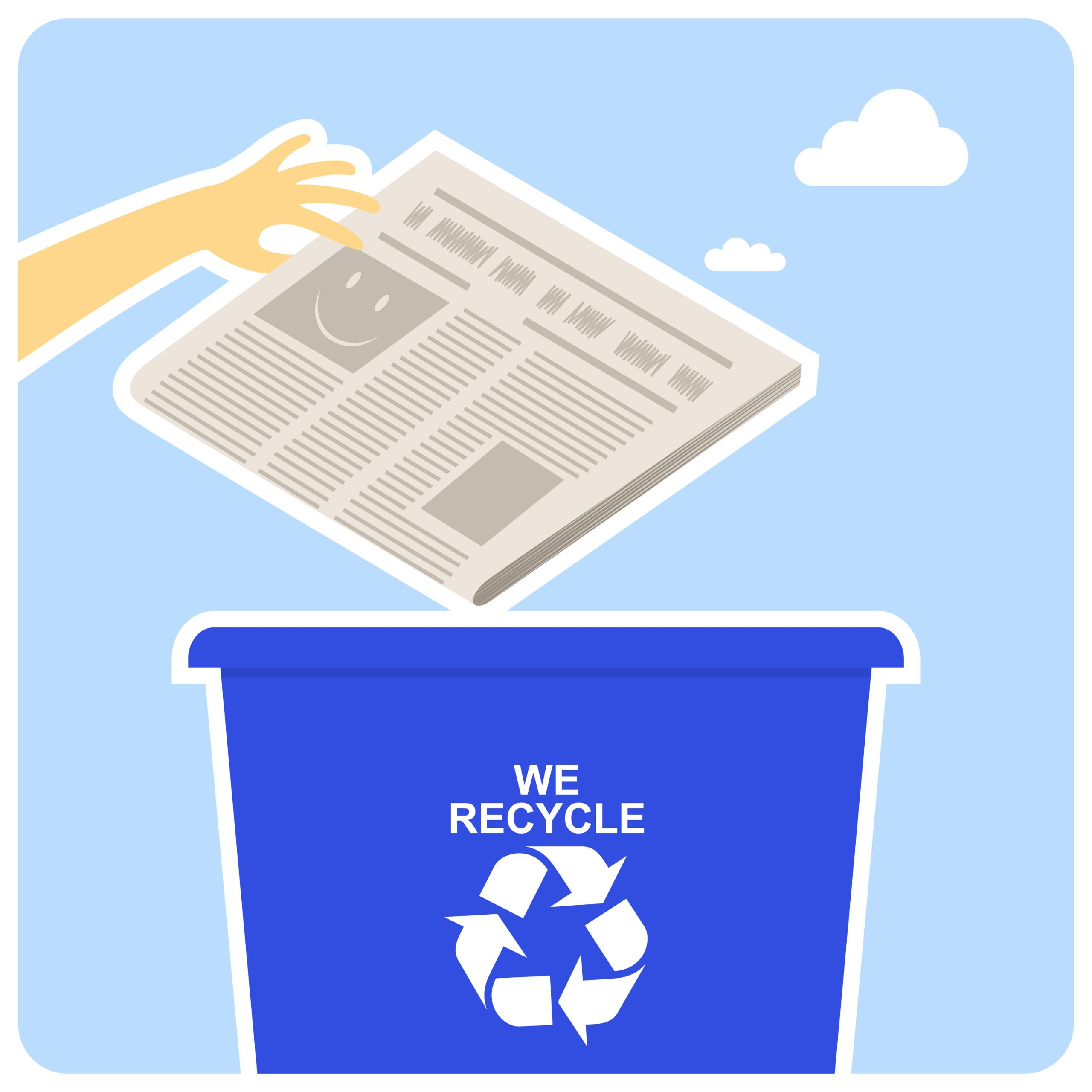 Newspaper recycling